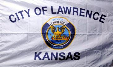 [Flag of Lawrence, Kansas]