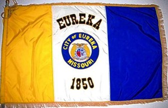 [flag of Eureka, Missouri]