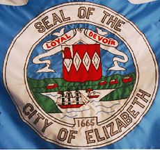 [part of the Flag of Elizabeth, New Jersey]